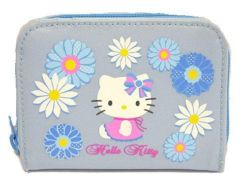 Hello Kitty Geldbörse mit Reißverschluss, Gänseblümchen-Design, Blau