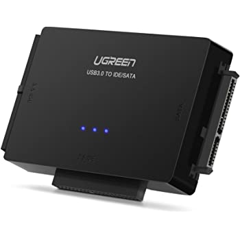 """UGREEN USB IDE Adapter USB 3.0 to SATA IDE Hard Drive Cable Adapter Converter for 2.5"""" 3.5"""" IDE External SATA HDD SSD Hard Drives Disks with 12V 2A Power Adapter and USB 3.0 Cable for Laptop"""