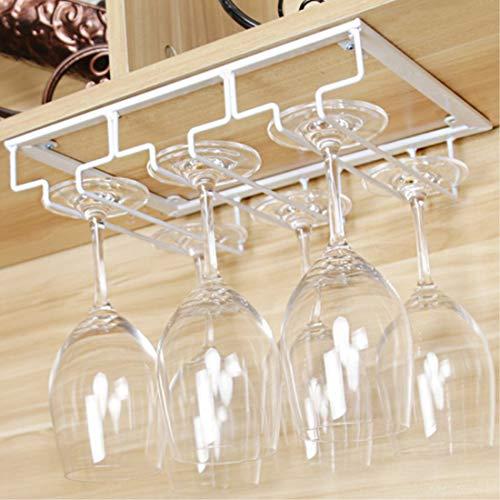 HENG 3 File Porta Bicchieri Sospeso Cremagliera del Bicchiere di Vino per Bar, Ristorante, Cucina