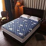 mattress WANGTX Colchón de futón, colchón Plegable portátil, colchón Doble Individual, Adecuado para el hogar, Dormitorio de Estudiantes, colchón de Camping para Invitados/E / 0.9×2m