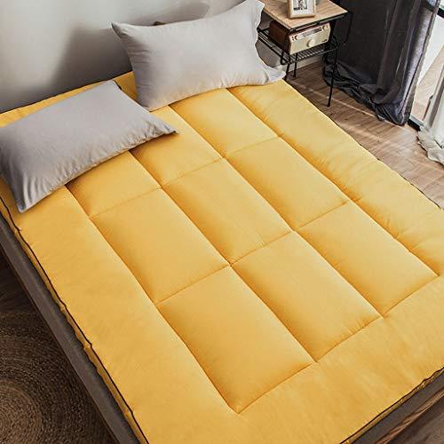 TUTUMAO Verdikte matras, 7D veren, velvet gevoerde kussens, Single studentenwohnheim met tatami-matten, 5 cm dik, gevouwen geheugen, vier seizoenen Universal