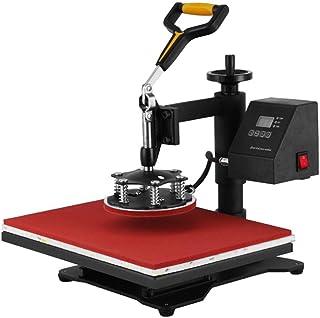 """Akozon 5 en 1 Máquina de prensa de calor Rotación de 360 grados 15"""""""" x 15"""""""" Recubierto de PTFE incorporado Máquina de tran..."""