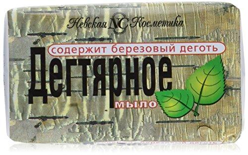 Teer Seife (Birkenteer) (3 Packungen 3 x 140g) gegen Dermatitis Akne Birkenseife aus Russland