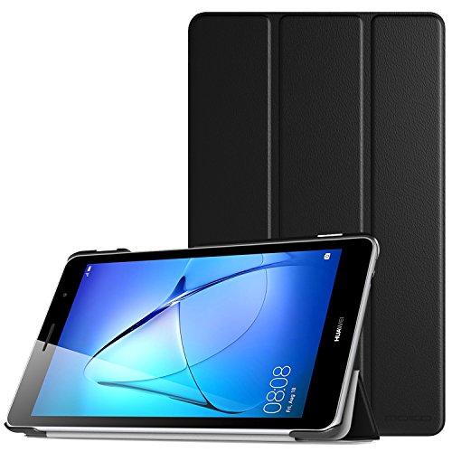 MoKo Huawei MediaPad T3 8 Funda - Ultra Slim Lightweight Función de Soporte Protectora Plegable Smart Cover Durable con Cierre magnético para Huawei MediaPad T3 8 Pulgadas 2017 Tableta, Negro