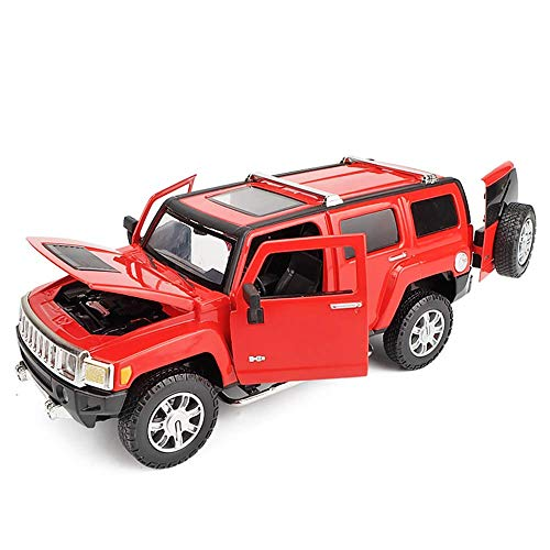 Yppss Modelo del Coche Rojo Escala 1:24 Hummer H3 aleación de Metal Fundido a Troquel del Coche (7.77Inch * * 3.15inch 2.95Inch) Eternal