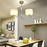 YUQIYU Lámparas colgantes Lámparas moderna minimalista restaurante, dormitorio creativo Lámparas lámparas de hierro forjado, B (Color : B)
