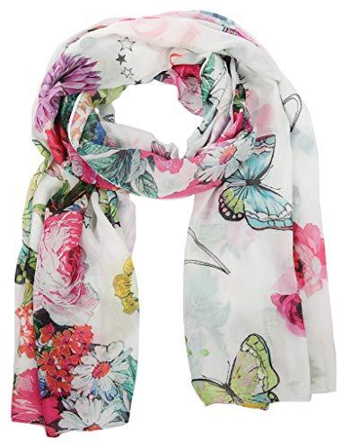 CODELLO Tuch Flower Paisley Weiß, 91033804