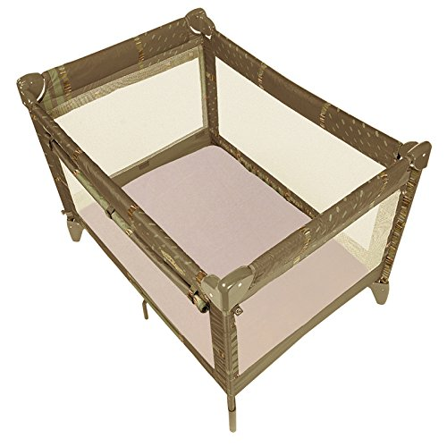 Save %18 Now! Kushies Organic Jersey Play Pen Fitted Sheet, Mocha