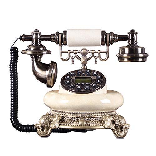 Qazxsw Festnetztelefon,Antike Europäische Telefon Retro Home Fashion Wired Telefon Kreativ Büro Festnetztelefon,Beige,25.5 * 17 * 22cm