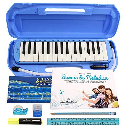 """Melodica Diamonica ffalstaff MEL32ABS und Metodo\""""Suona la Melodica\"""""""