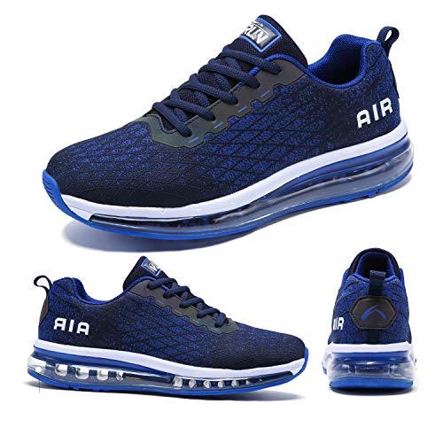 Torisky Zapatillas Deportivoas Hombre Mujer Air Zapatos de Deporte Running Sneakers Correr Gimnasio Casual(8998-BL46)