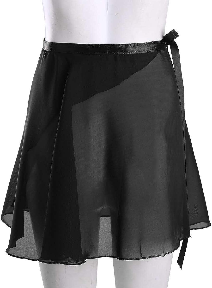 iixpin M/ädchen Chiffon Ballett Rock Wrap Skirt Damen Ballett Tanz Dancewear Wickelrock Ballettrock Minirock