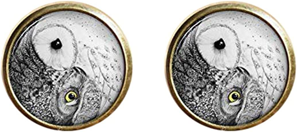 Death Devil Art Picture Cuff Links,Gift of Love,Owl Cuff Links