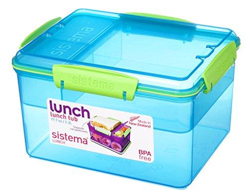 Sistema Tub Lunch Box-2.3 L, 19.7 x 15.8 x 11.5 cm, Assorted Colours