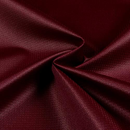 8.7 Oz Ottertex Polyurethane Coated Polyester Ripstop Burgundy, Fabric by the Yard