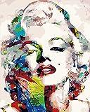 HQHff Imagen en Color Marilyn Monroe,Puzzles Adultos 500 Piezas 52x38cm,3D Puzzles de Madera Adultos Regalo de Juguete Educativo para nios