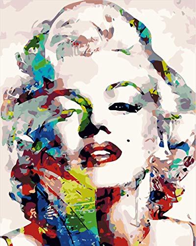 HQHff Imagen en Color Marilyn Monroe,Puzzles Adultos 500 Piezas 52x38cm,3D Puzzles de Madera Adultos Regalo de Juguete Educativo para niños