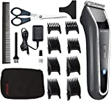 Wahl Lithium Pro LED Recargable Gris, Acero inoxidable - Afeitadora (Gris, Acero inoxidable,...