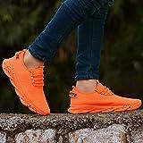 Trane Shoes Men's Air Series Orange Mesh Casual, Walking, Running/Gymwear Shoes (9)