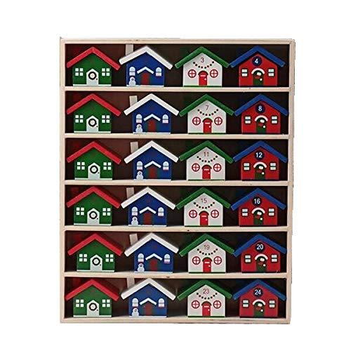 カルディ ウッドハウスカレンダー アドベントカレンダー 木製ボックス 菓子詰め合わせ