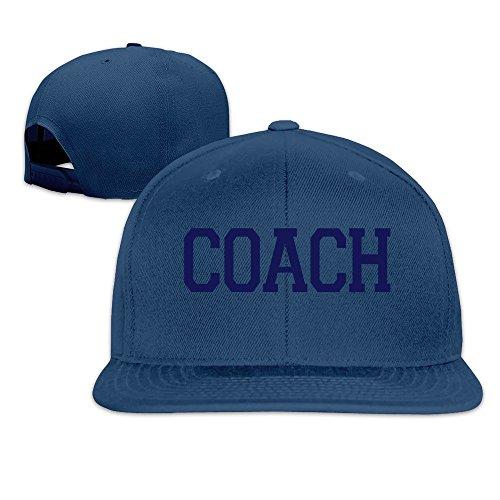 Hittings Unisex Coach Adjustable Snapback Baseball Caps 100% Cotton Natural One Size Navy