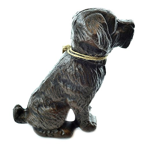 Lulu Decor, Cast Iron Decorative Dog Door Stopper, Doorstops, Sculpture, Dog Statue (Black 4.50 lbs)