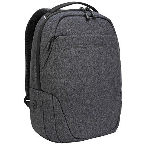 Targus Groove X2 Compact Backpack with Protective Sleeve Designed for Travel and Commute fits up to 15-Inch Macbook and Other Laptop, Charcoal (TSB952GL)
