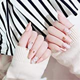 Unghie Finte,Nail Art Tip & Colla Motivo a onde Perline Artificiale Unghie Finte Lunghezza Perfetta Copertina piena Beauty Art Decoration Manicure Pedicure per le Donne Ragazze Ragazze