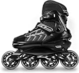 MammyGol Patines en línea ajustables para adultos y adolescentes, patines de ruedas seguros y duraderos con ruedas gigantes, patines de alto rendimiento para niñas y niños de 6 a 9 EE. UU.
