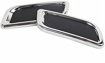 2 stks auto styling chroom achterbumper decoratie uitlaatpijp staart keelstickers (Color : Sliver)