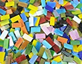 Lanyani 400 Pieces/17.6oz Rectangle Mosaic Tiles Stained Glass for Crafts and Home Decorations Assorted Colors...