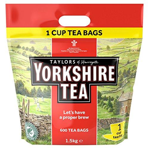 YORKSHIRE 1 CUP TEA BAGS 1108 PK600