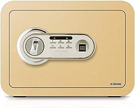 Safe Metal Safe Box Family Bedroom Bedside Table Fingerprint Smart Safe Household Storage Box Gift (Size : 35 * 25 * 25cm)