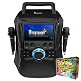 Mr Entertainer Megabox Portable Karaoke Machine with Screen. CDG/DVD/MP3G/USB. Includes 200 Song Family Party Pack and 2 Microphones (Wired Microphones)