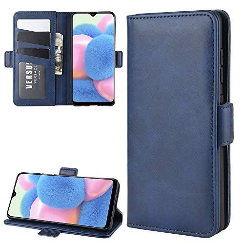 Henxunton PU leder Flip Hoesje Portemonnee Cover Magnetisch Sluiting Dubbele Beschermhoes Skin voor Samsung Galaxy A41 Telefoon (Bruin)
