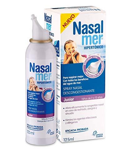 Nasalmer Junior Spray Contra la Congestión Nasal - Solución Hipertónica- 125 ml