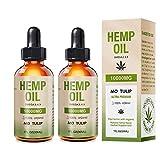(2 Pack) MO TULIP Hemp Oil 10000MG Organic Natural Hemp Oil Drops Anti-Anxiety Anti-Stress Helps with Sleep, Skin and Hair