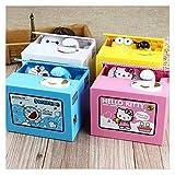 Changskj Hucha Caja de Dinero Robar Ahorro de Monedas del Banco Creativo Piggy Box Amigo de los niños Regalo de cumpleaños decoración Desktop (Color : Doraemon)
