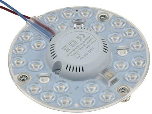 LED Ring Modul für Deckenleuchten mit Magnethalter 12W Ø125 1080 Lumen 230V anschlussfertig Warmweiss