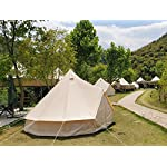 Latourreg Pyramid Round Bell Tent Canvas Yurt Tent With Zipped Groundsheet For Family Outdoor Camping 5