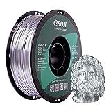 eSUN Filamento PLA Metal Seda 1.75mm, Sedoso Metálico Impresora 3D Filamento PLA, Precisión Dimensional +/- 0.05mm, 1KG (2.2 LBS) Carrete para Filamento de Impresión 3D, Plata Seda