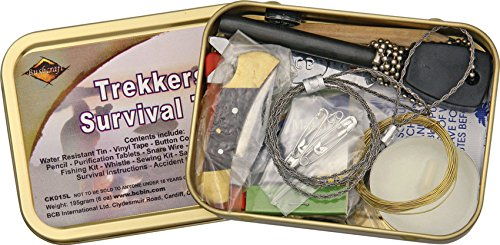 Bushcraft, Kit di sopravvivenza per escursionisti, Marrone (bronze)