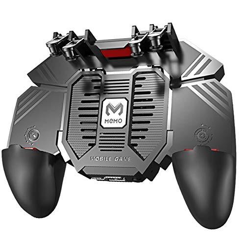 "Controlador de videojuegos móvil para Pubg con 4 disparadores L1R1 L2R2, con cargador portátil, para teléfono Android de 4,7-6,5\"""