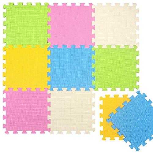 LittleTom Alfombras Puzzle para Bebé Alfombrilla Suelo Goma EVA Colores Pastel