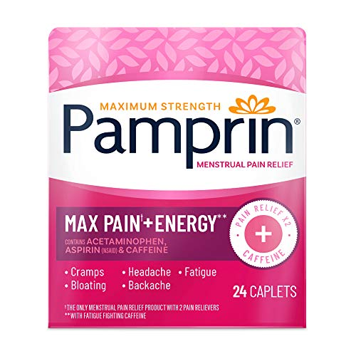 Pamprin Maximum Strength Pain Relief Caplets, 24 Each (Pack of 3)