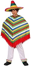 Children's Role Play Costumes Fancy Dress Boys Girls Unisex (Mexican Rainbow Poncho, Age : 7-9 Years)