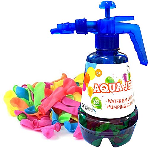 Water Balloons Bombs 1000 For Kids with Pumping Station 3 In 1 Spray Bottle Fast Filling Small Balloons Ideal For Splash Fights, Summer Outdoor Water Fight Games and Party Favors Multicoloured