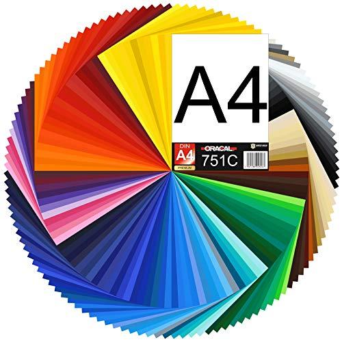 (15,87€/m²) DIN A4 Bogen 30x21cm ORACAL 751C Plotterfolie Folie Vinyl autofolie (053 hellblau)