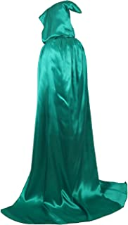 Unisex Hooded Cloak Full Length Halloween Christmas Masquerade Party Cape