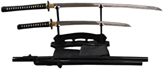 YJ COOL Battle Ready Real Katana Samurai Sword Set 2 Piece High Carbon Steel